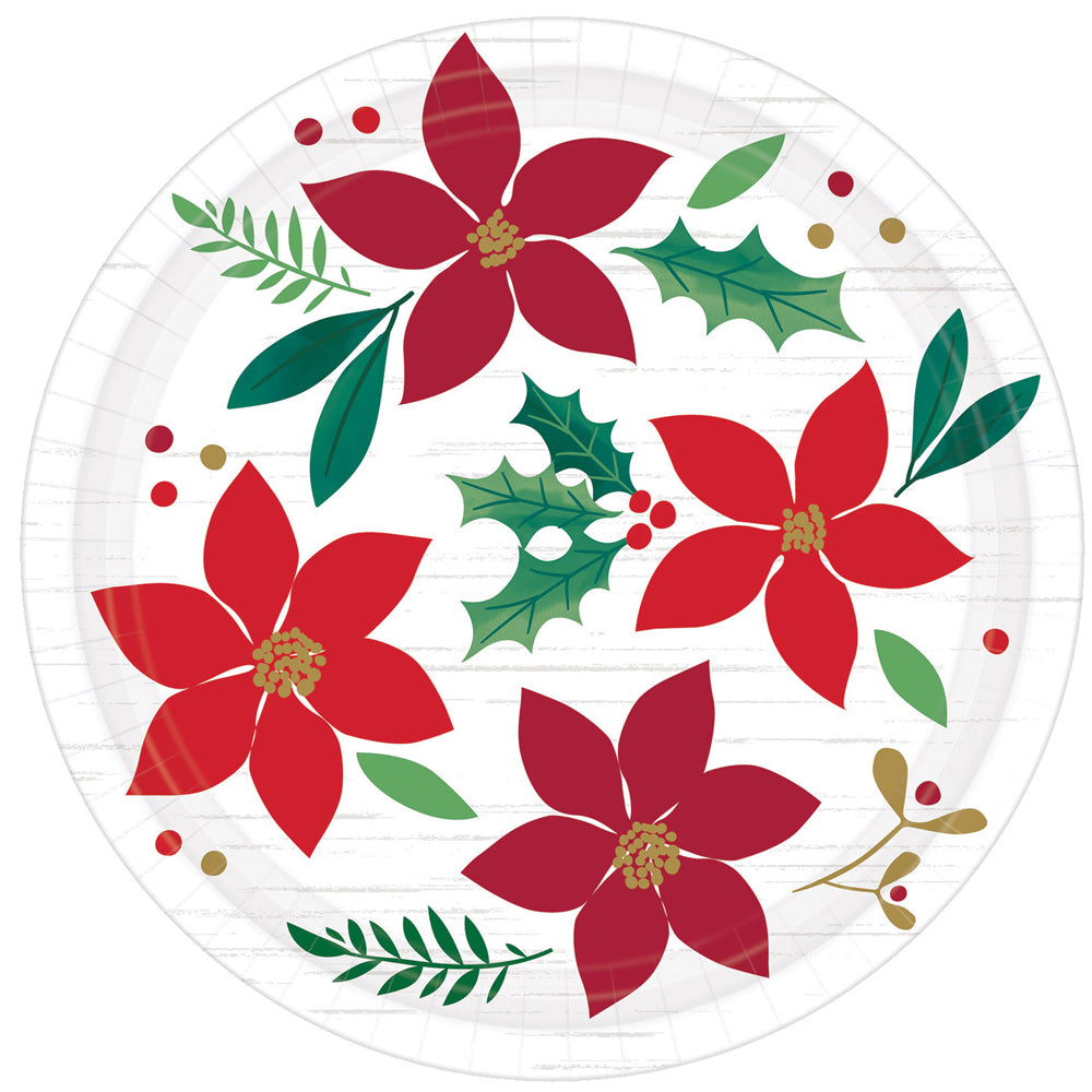Christmas Wishes Paper Plates - 18cm - Pack of 8