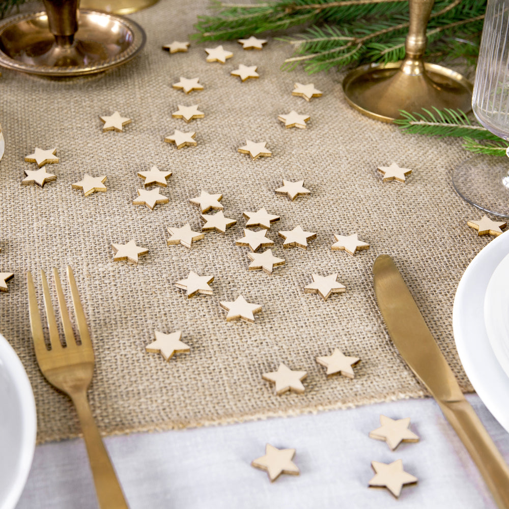 Wooden Star Confetti - Pack of 50