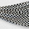 Chequered Plastic Drape Decoration - Black & White - 30.5m