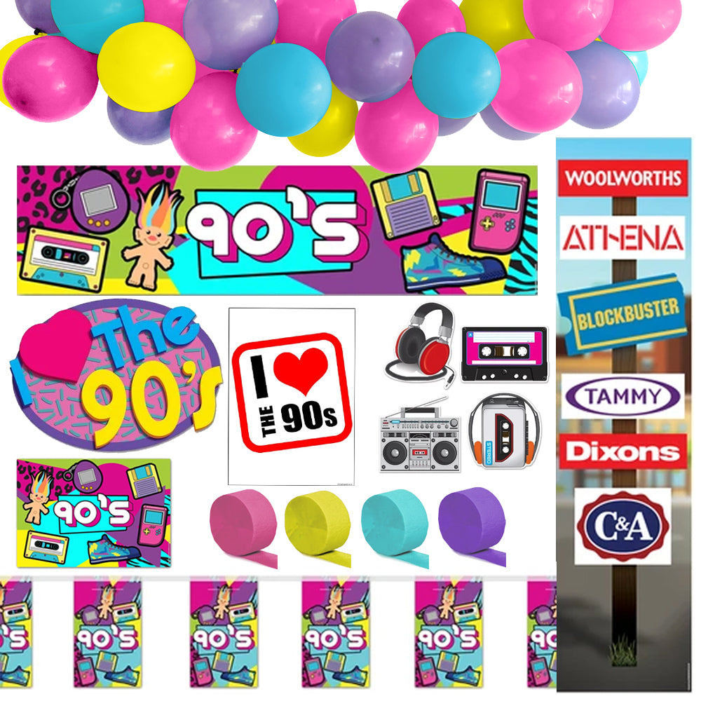 90's Decoration Party Pack