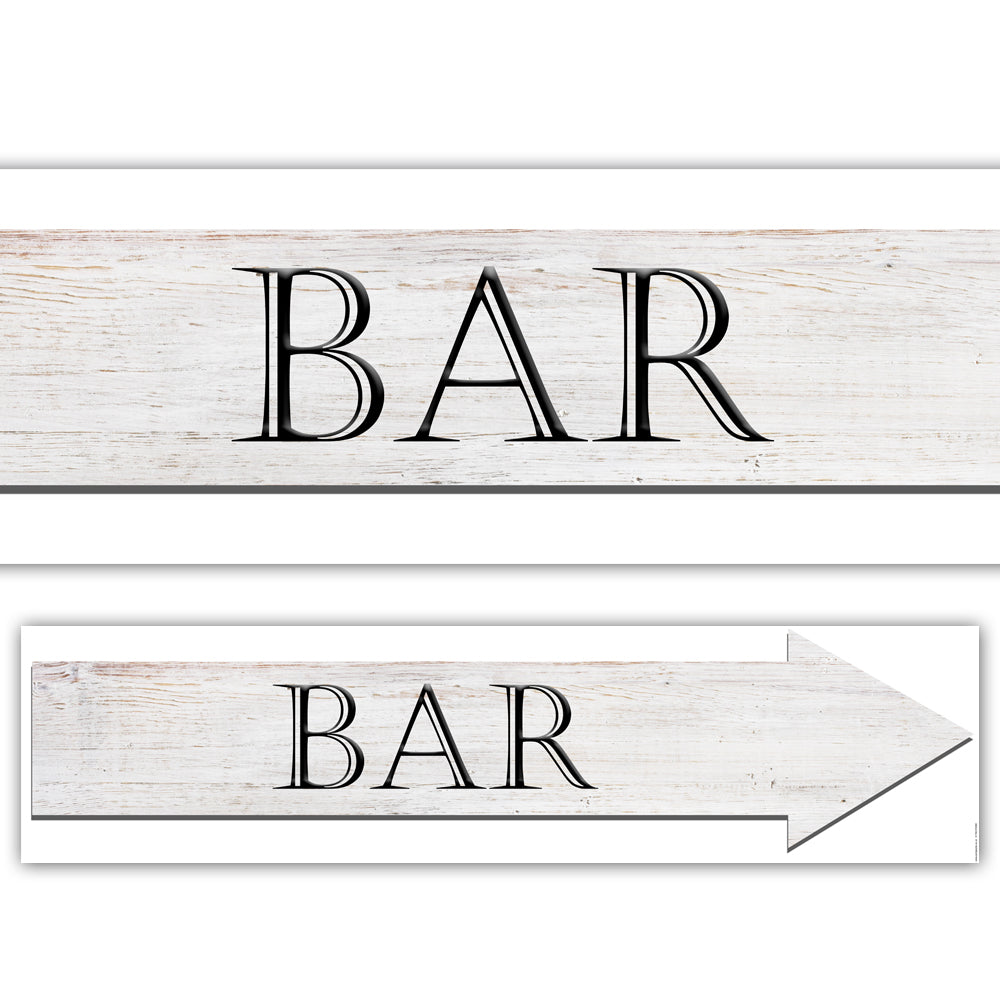 Bar Arrow Sign Paper Banner