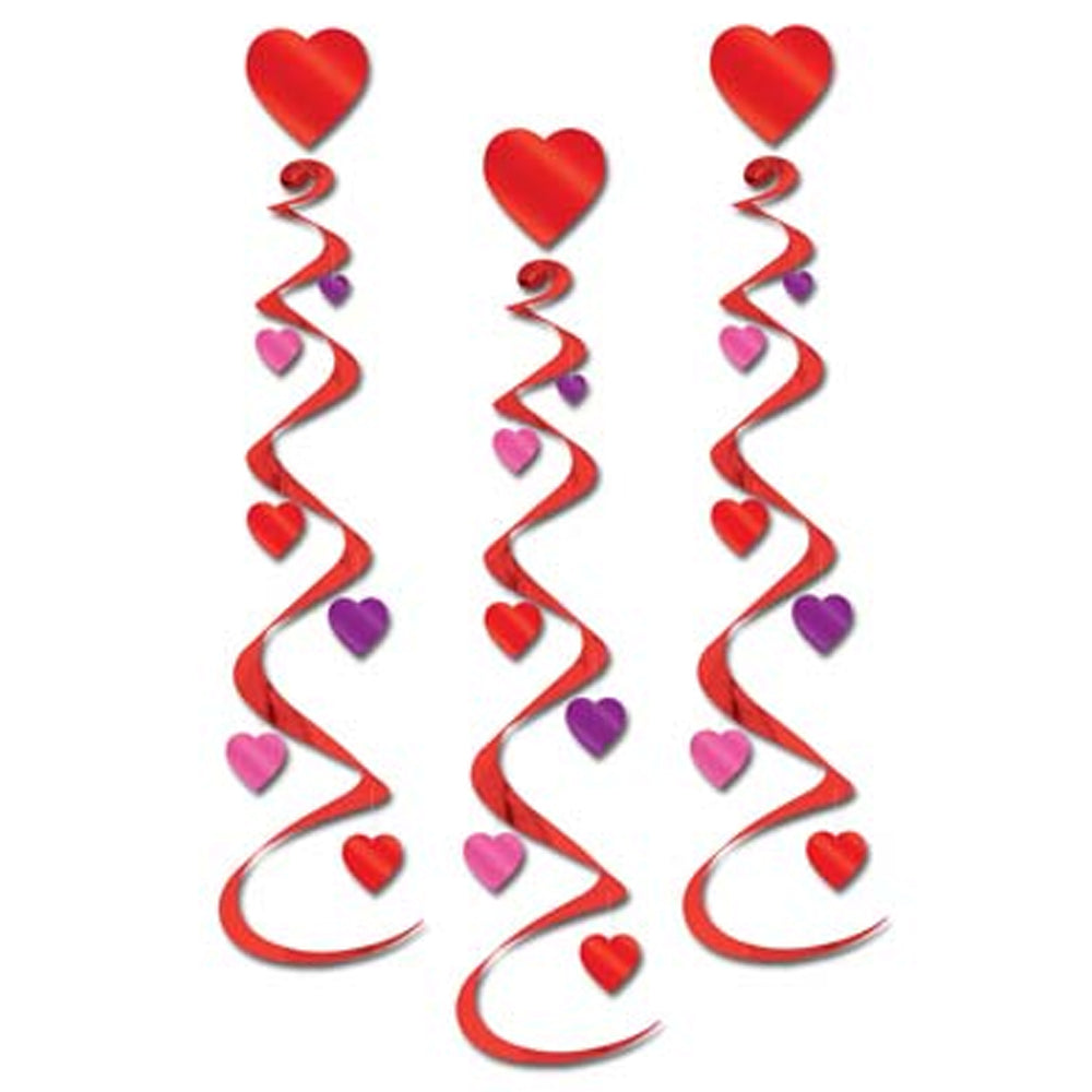 Hanging Heart Whirls - Pack of 3 - 30""
