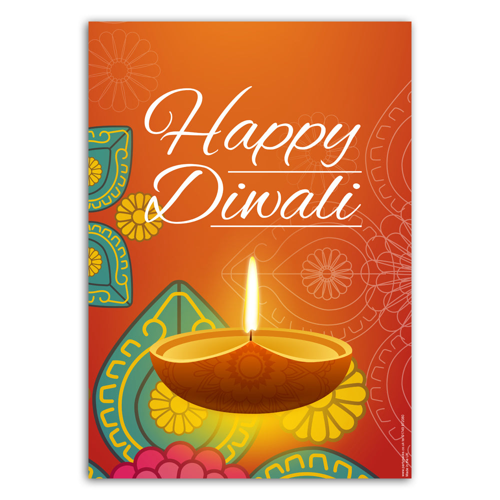 Happy Diwali Poster Decoration - A3