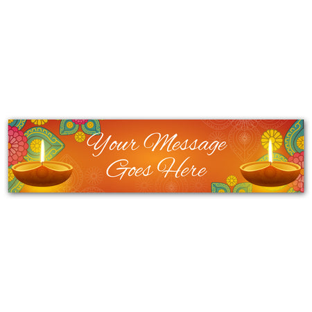 Diwali Personalised Banner Decoration - 1.2m