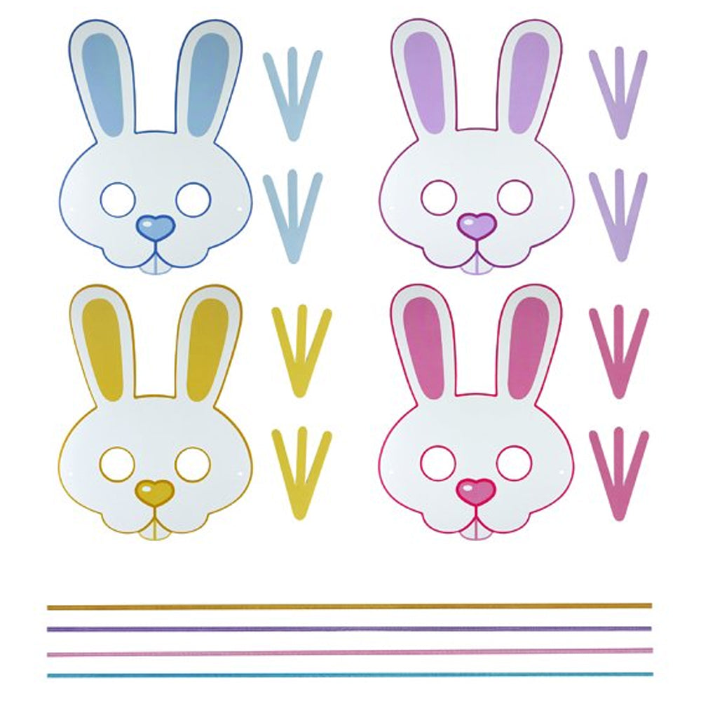 Make Your Own Easter Bunny Masks - Pack of 4