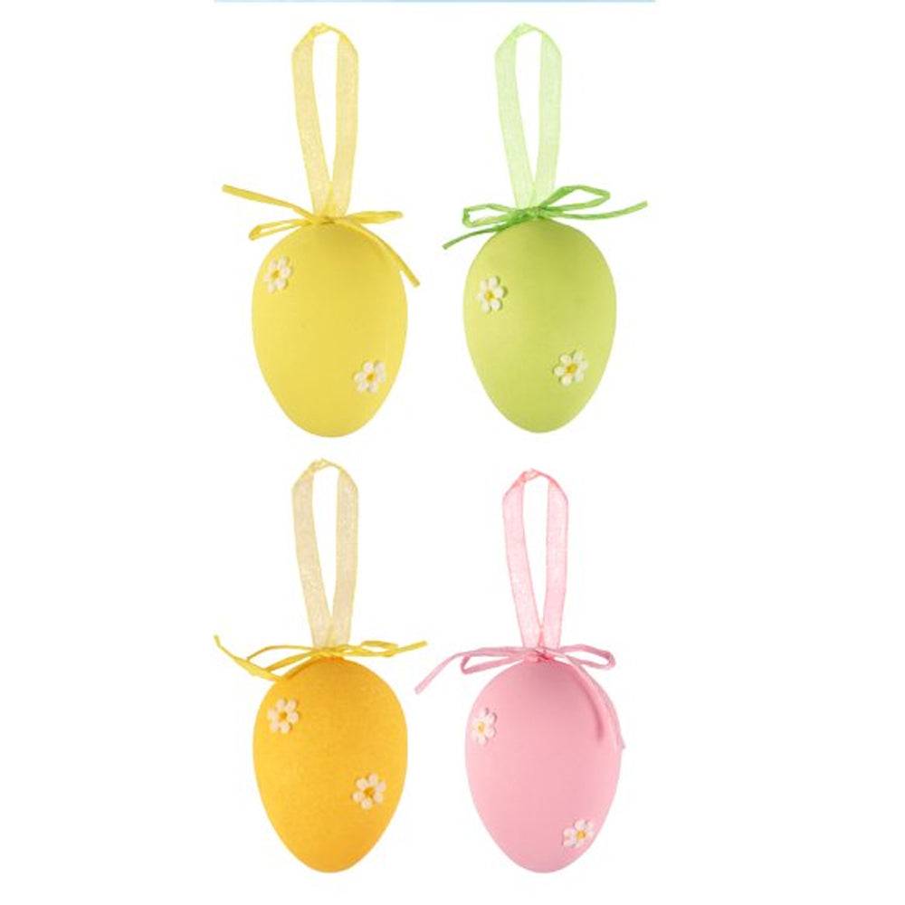 Pastel Easter Egg Decorations - 4cm - Pack of 4