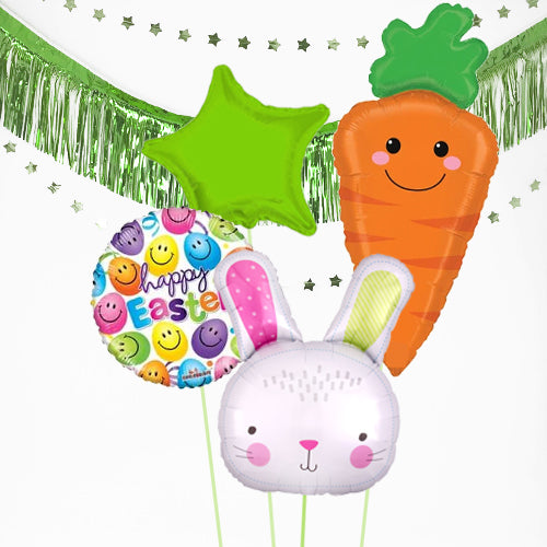 Inflated Easter Bunny and Carrot Balloon Bundle in a Box
