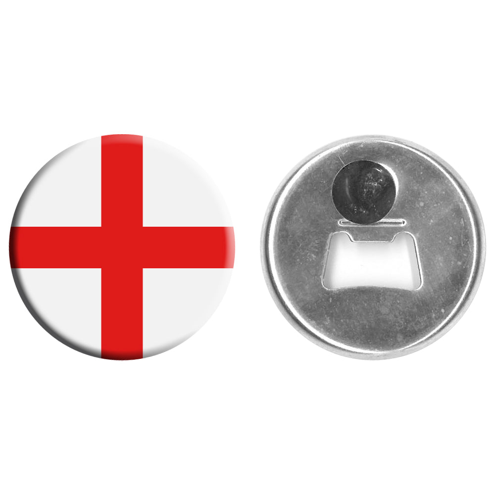 England Flag Bottle Opener Magnet - 58mm - Each