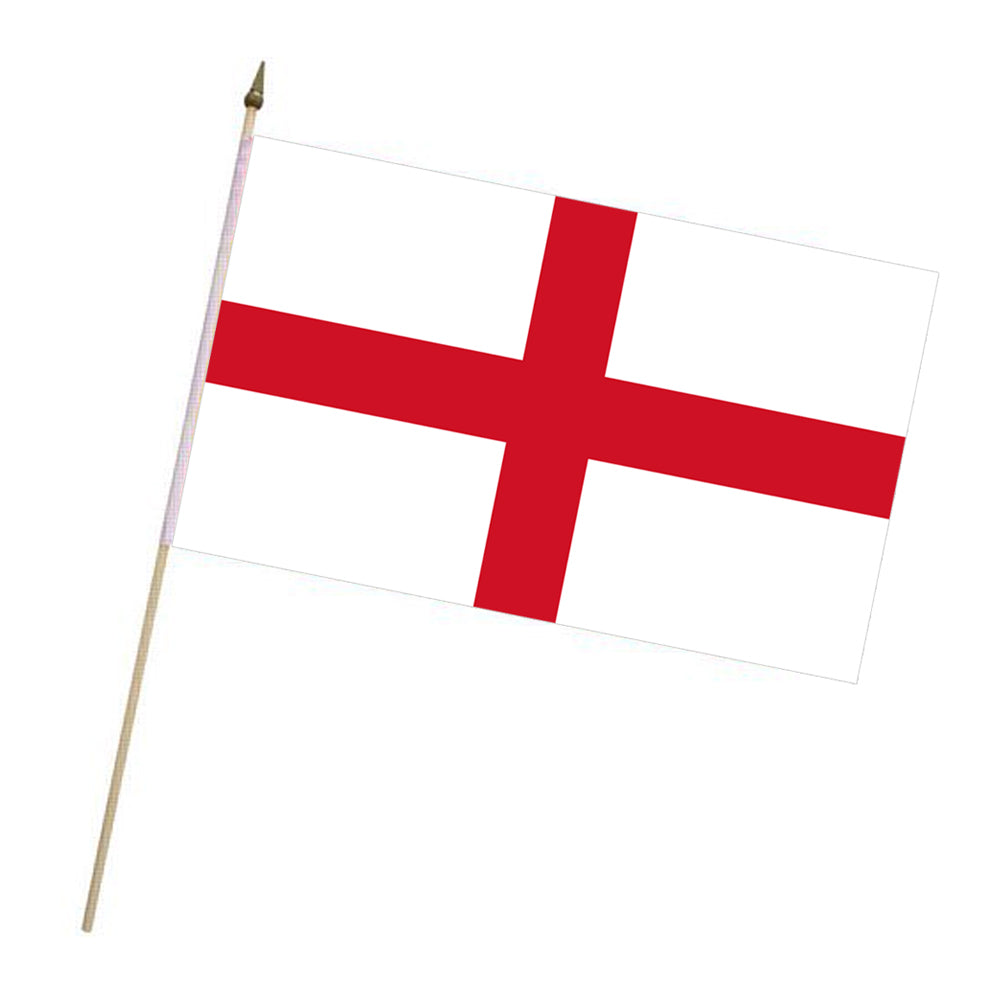 England St George Cloth Hand Flag - 18""