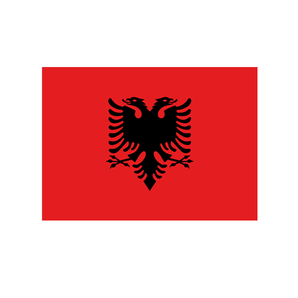 Albanian Cloth Flag 5ft x 3ft