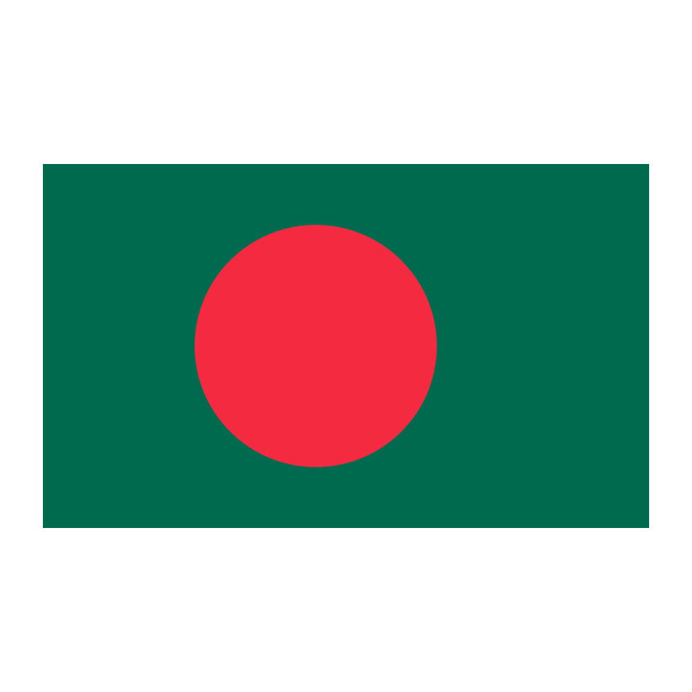 Bangladeshi Polyester Fabric Flag 5ft x 3ft