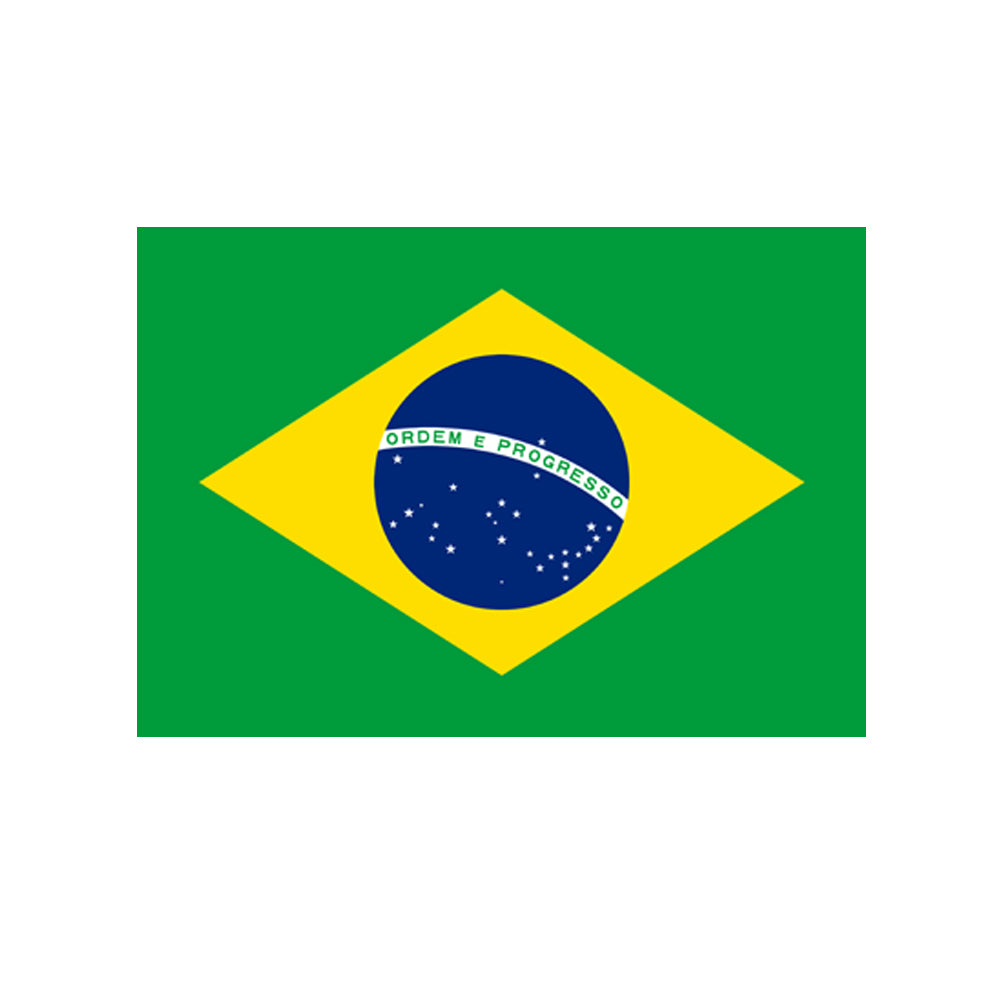 Brazilian Polyester Fabric Flag 5ft x 3ft