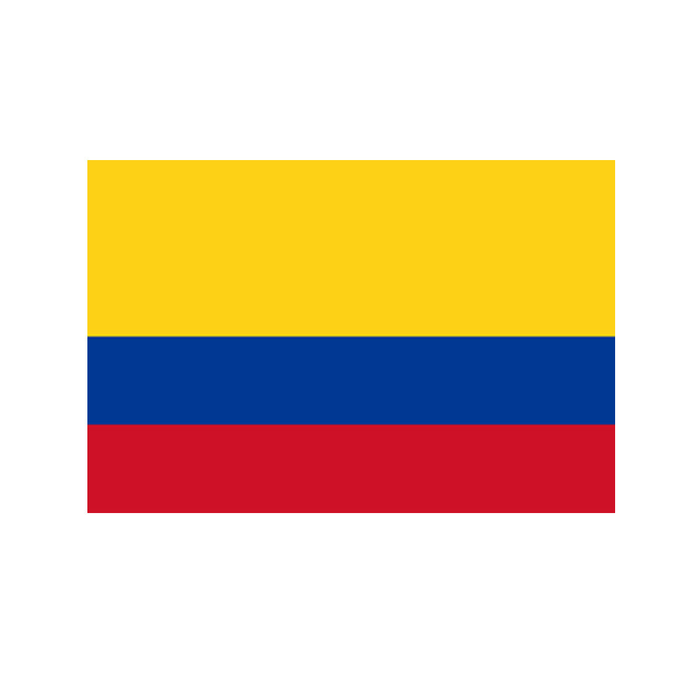 Colombian Polyester Fabric Flag 5ft x 3ft