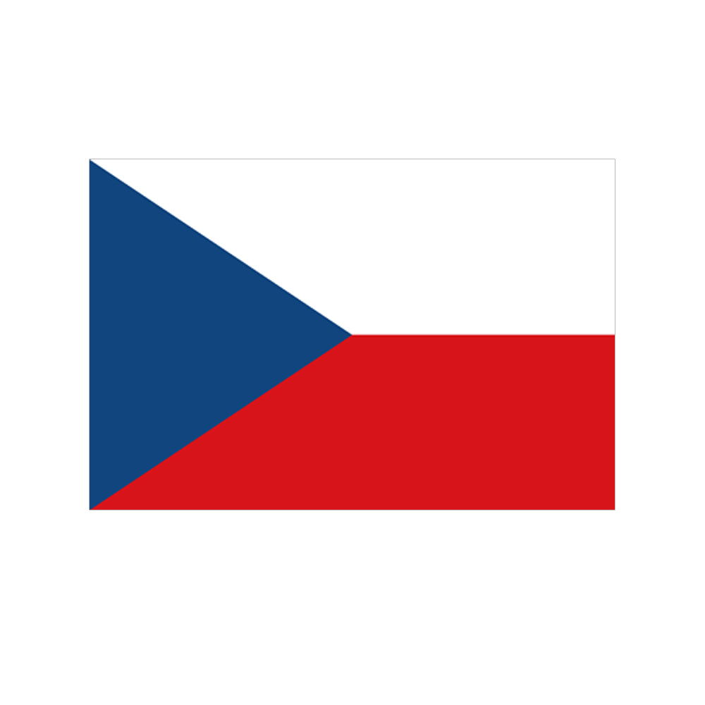 Czech Republic Cloth Flag 5ft x 3ft
