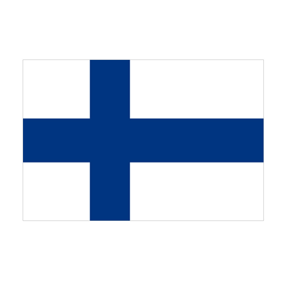Finland Polyester Fabric Flag 5ft x 3ft