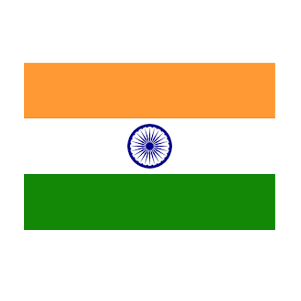 Indian Polyester Fabric Flag 5ft x 3ft