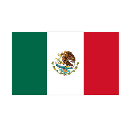 Mexican Polyester Fabric Flag 5ft x 3ft