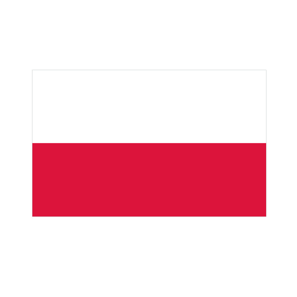 Polish Polyester Fabric Flag 5ft x 3ft
