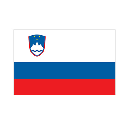 Slovenian Polyester Fabric Flag 5ft x 3ft