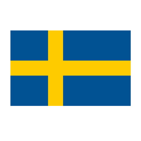 Swedish Polyester Fabric Flag 5ft x 3ft