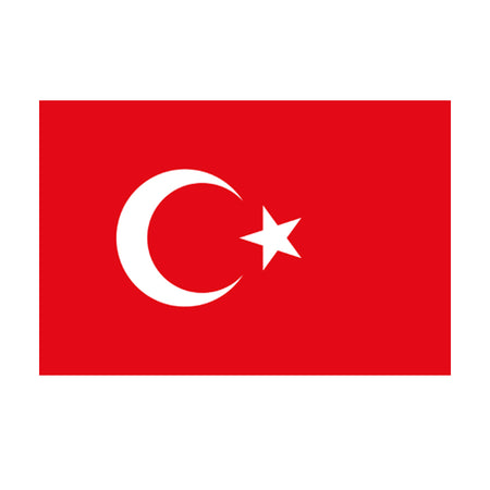 Turkish Polyester Fabric Flag 5ft x 3ft