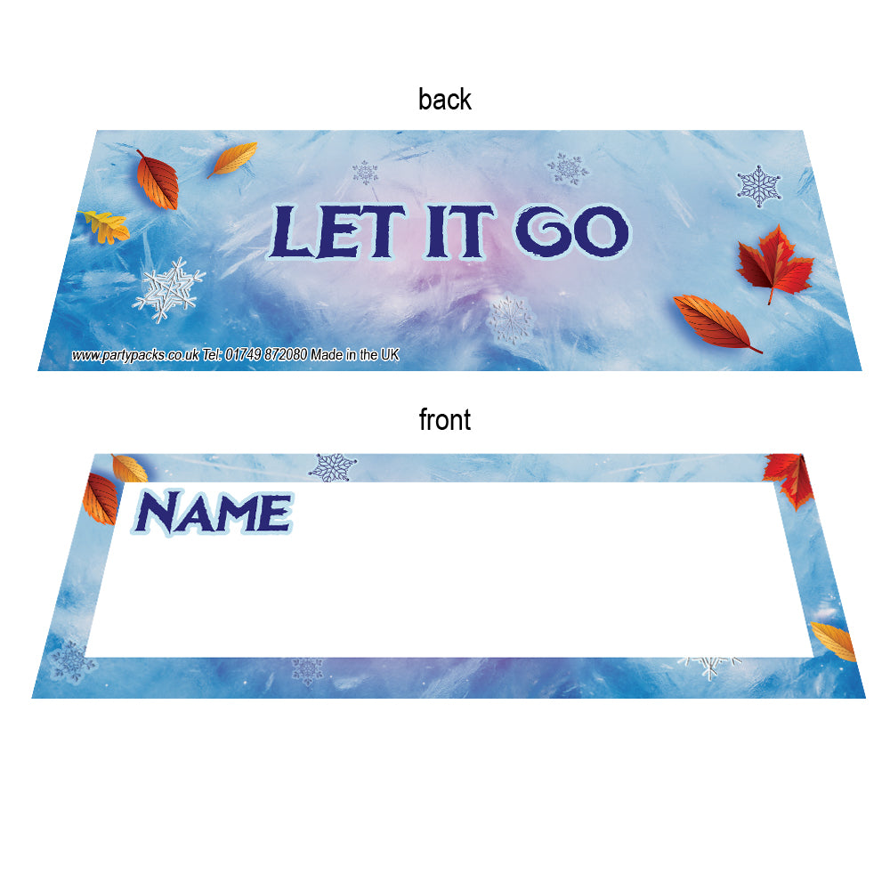 Let It Go Placecards - Pack of 8