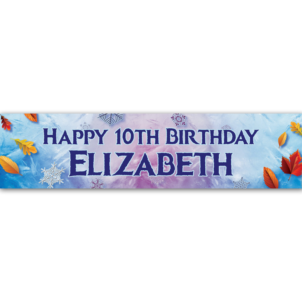 Let It Go Personalised Banner Decoration - 1.2m