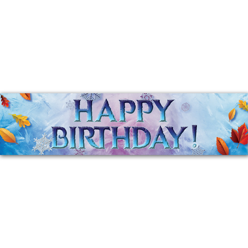 Let It Go 'Happy Birthday' Banner Decoration - 1.2m