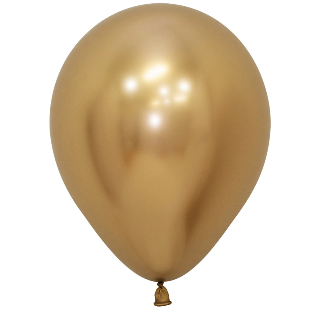 "Gold Chrome Metallic Latex Balloons - 11"" - Pack of 10"