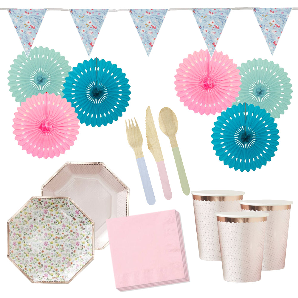 Pretty Garden Party Decoration and Tableware Party Pack