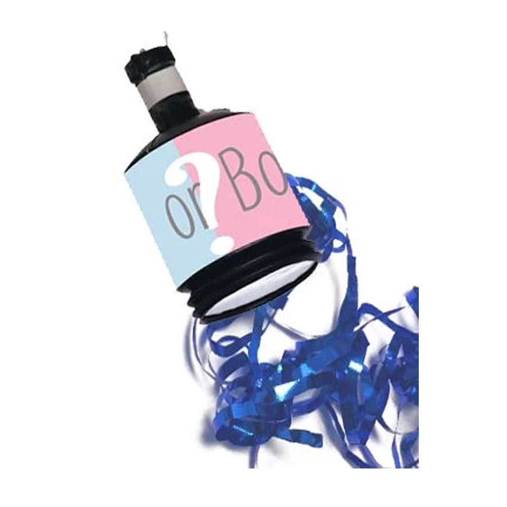 Gender Reveal Party Poppers Blue