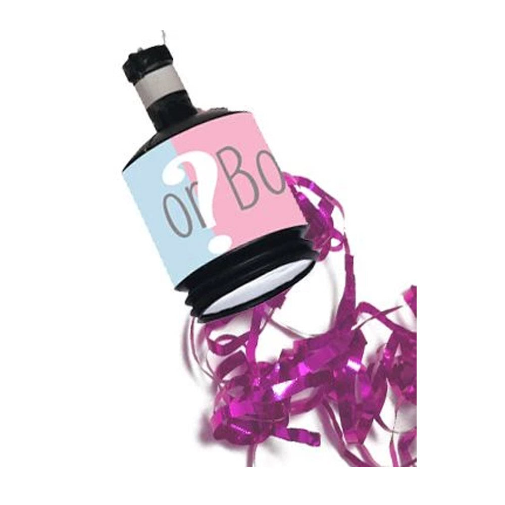 Gender Reveal Party Poppers Pink