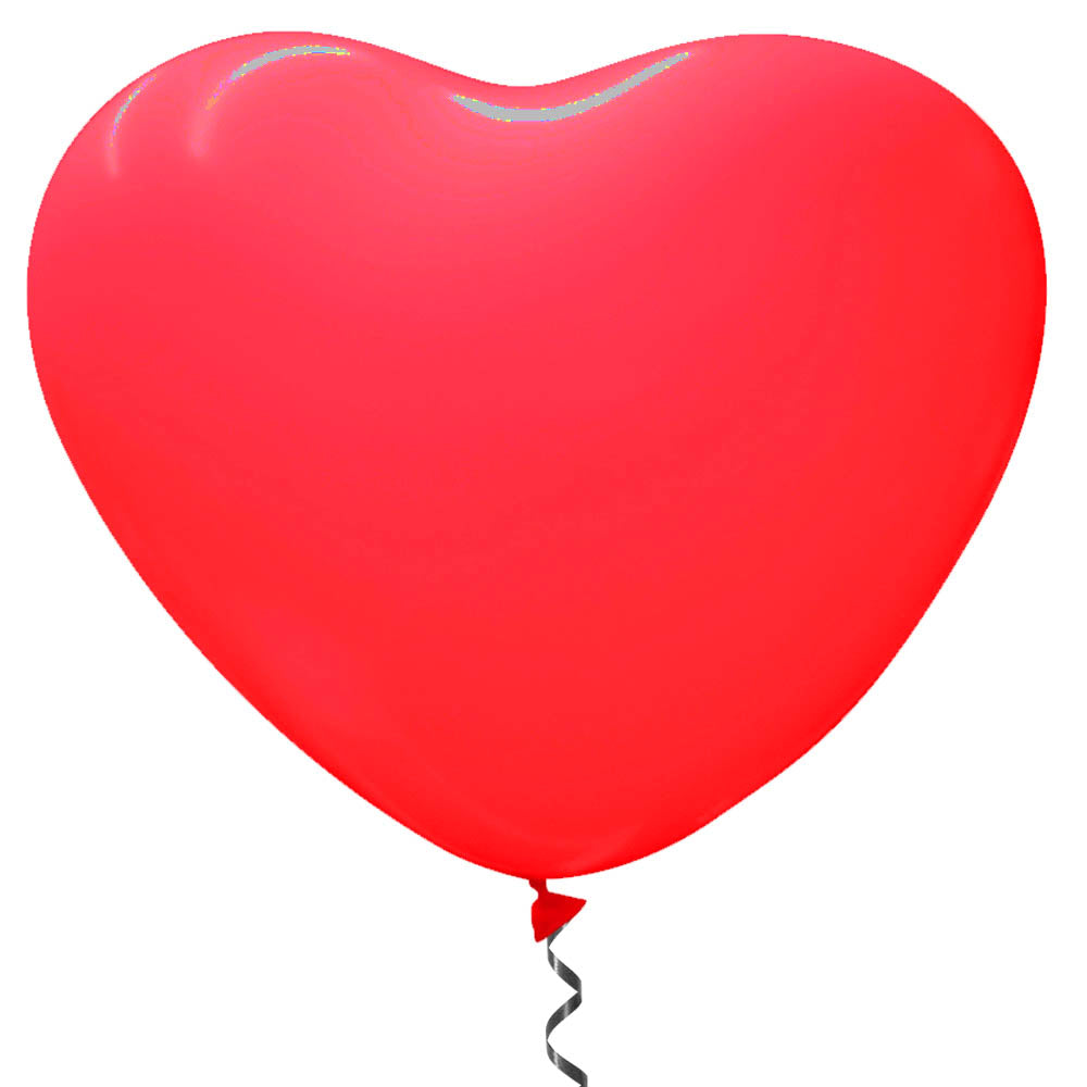 "Giant Red Heart Shaped Latex Balloons - 29"" - Pack of 2"