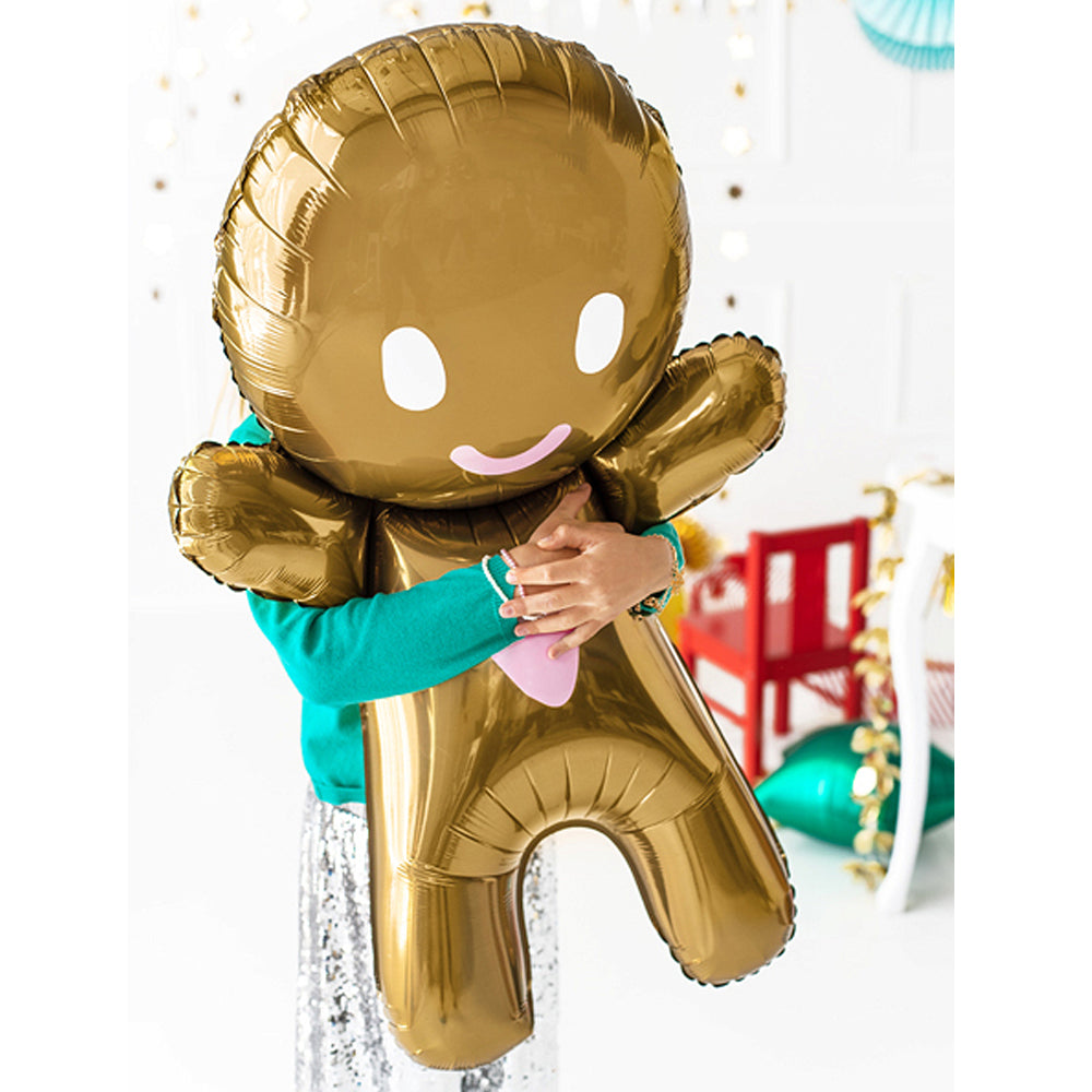 Gingerbread Man Foil Balloon