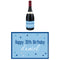 Personalised Wine Bottle Labels - Glitz Blue - Pack of 4