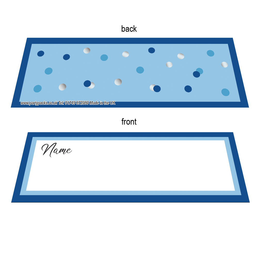 Glitz Blue Placecards - Pack of 8