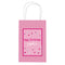 Personalised Glitz Pink Paper Party Bags - Pack of 12