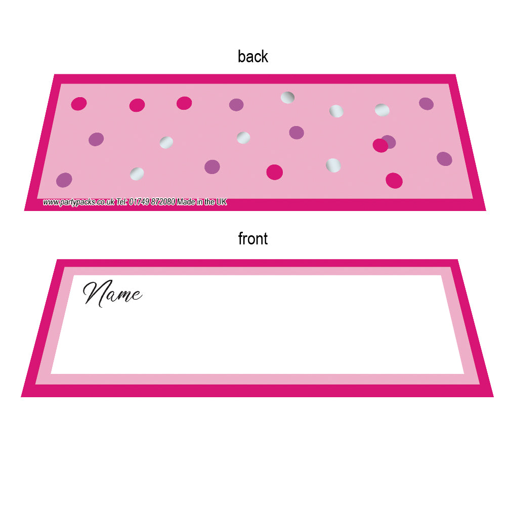 Glitz Pink Placecards - Pack of 8