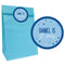 Glitz Blue Party Bags with Personalised Stickers - Pack of 12