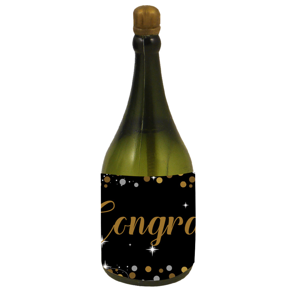 Personalised Champagne Bubbles - Birthday Sparkle Gold - Pack of 16