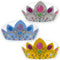Princess Card Tiaras Fancy Dress Hats - Gold, Silver & Sapphire - Each