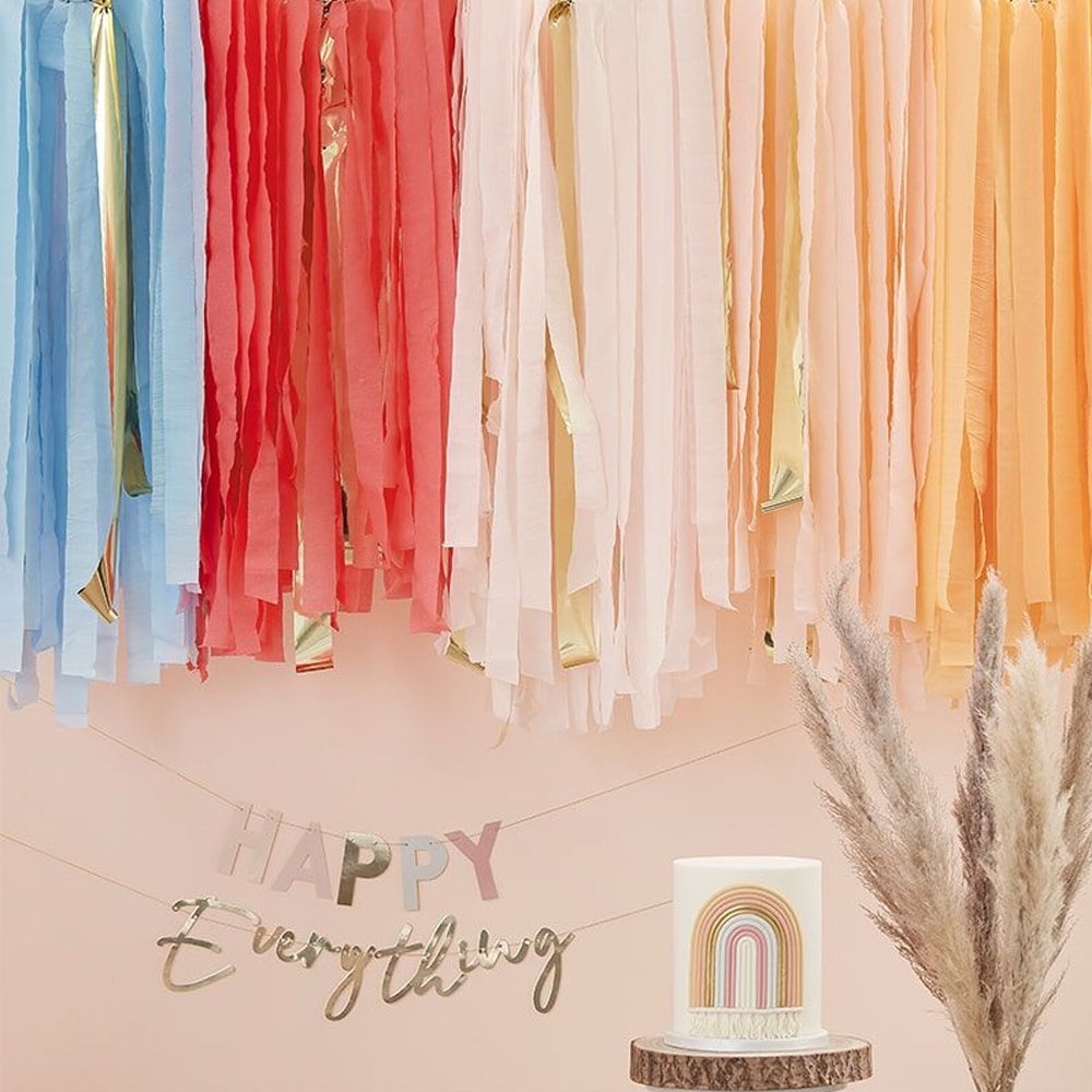Muted Pastel Ceiling Streamers Decoration Kit