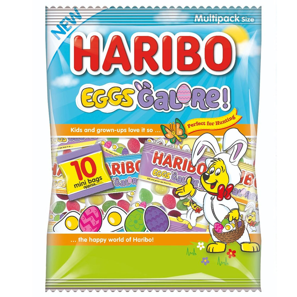 Haribo Eggs Galore! Multipack Bag 10 x 16g Mini Bags