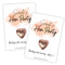 Personalised Rose Gold Hen Party Favours - A6 - Pack of 8