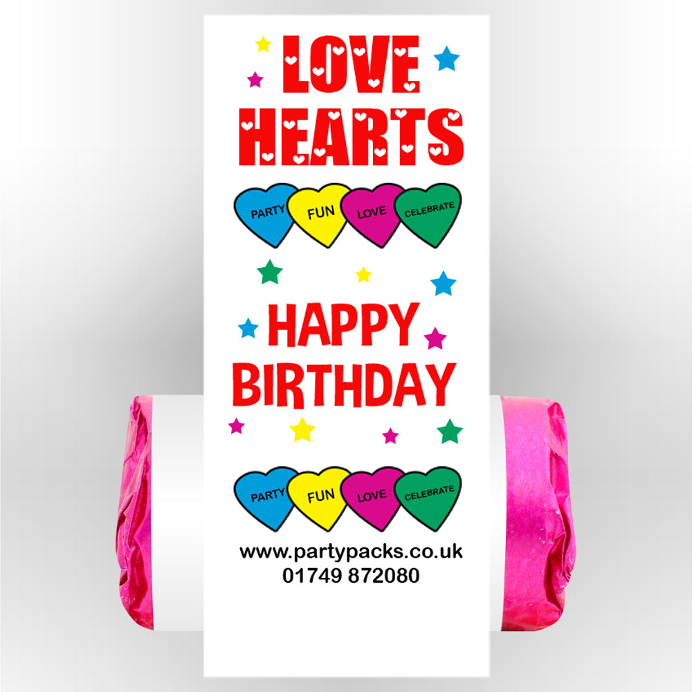 Happy Birthday Love Hearts- Pack of 30