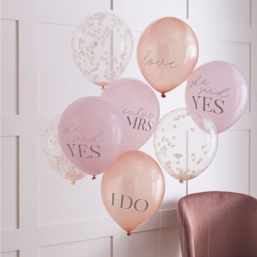 "Hen Party Slogan Latex Balloons - 12"" - Pack of 8"