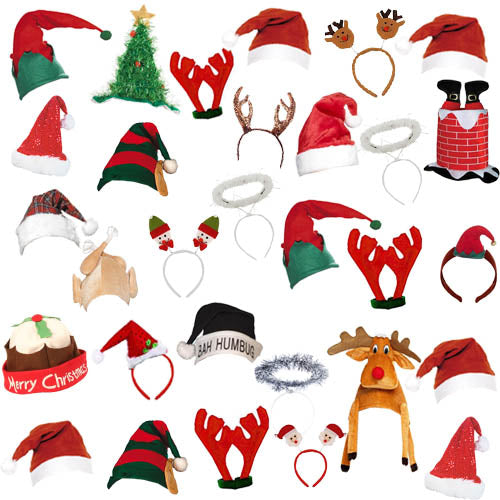 Large Christmas Hat Pack For 30 People