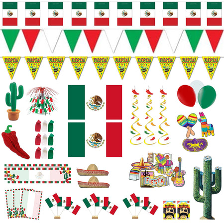 Large Mexican Decoration & Novelty Party Pack