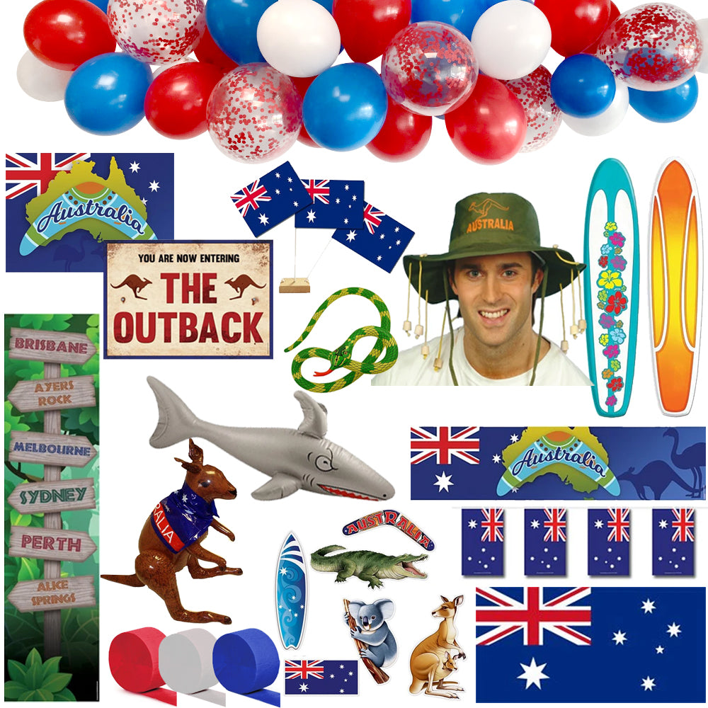 Large Australian Decoration and Novelty Party Pack