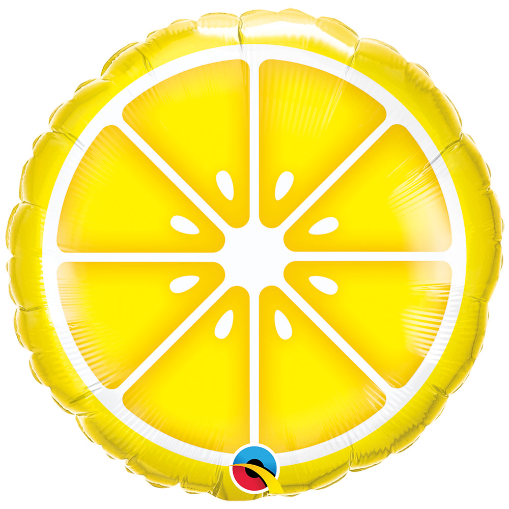 "Sliced Lemon 18"" Foil Balloon"